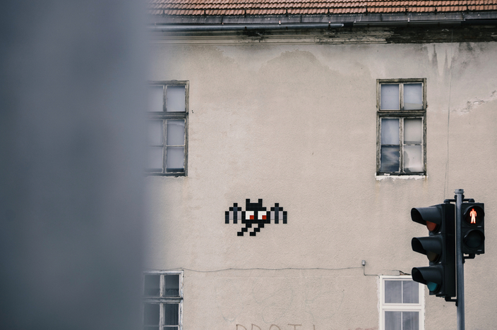 Invader's Street Art Tour